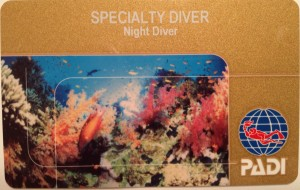Night Diver Card