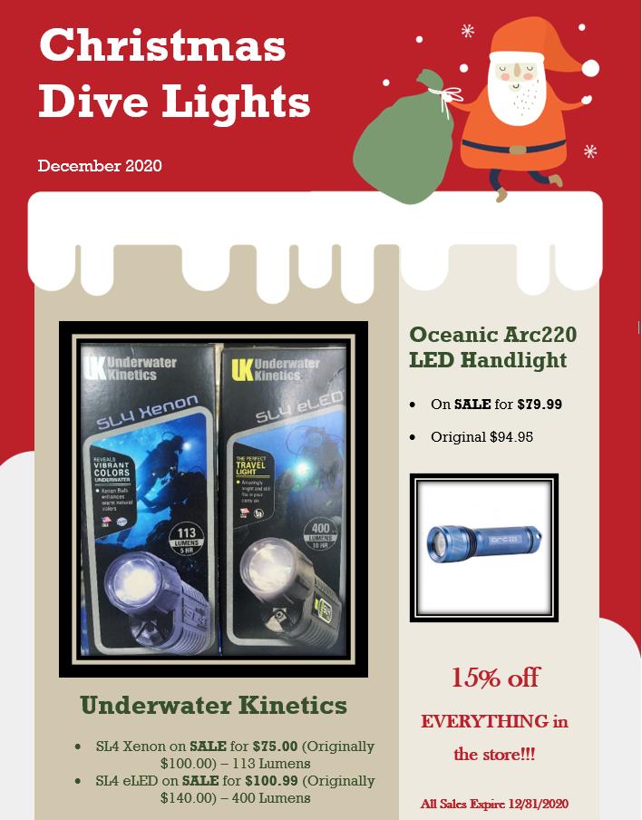 Christmas Dive Light Sale
